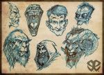 Head sketches by Revelationchapter9
