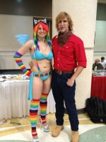 Big Macintosh MegaCon 2013: Rainboom by TVsAdamWest