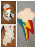 Rainbow Dash Hat Scarf by Avalanche-Design