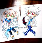 Commission: Soul and Maka Chibis by nikkaroo