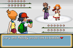 Ash and Misty vs Gary and Melody by BeeWinter55