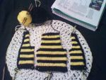 WIP Hufflepuff newborn cardigan by CreationsbyJolie