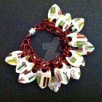 Christmas Presents Scalemaille Bracelet by Rosie-Periannath
