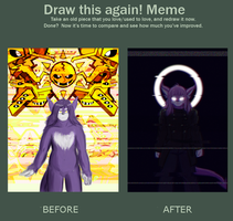 So I never made a proper redraw meme of this by HedgehodgeMonster