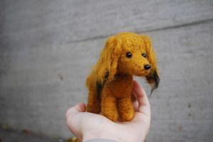 Needle felted dachshund brown by Pawkeye