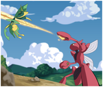 Scizor Vs Leavanny by SirOpacho