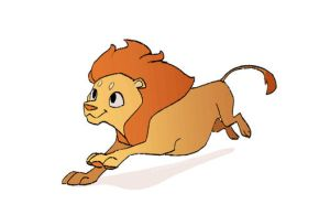 animation: lion run cycle by scrii