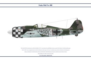 Fw190A7 JG1 3 by WS-Clave