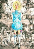 Alice In Wonderland by OrangeRind