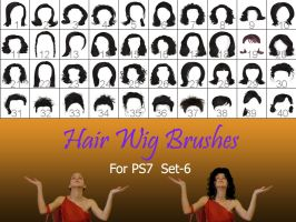 Hair_Wigs_Brushes_SET_6 by intenseone345