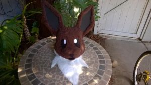 Eevee head by TheCreativeCritters