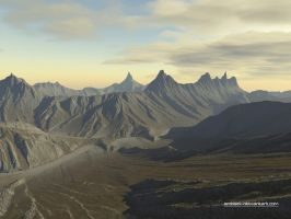 Mountainscape On Holodeck 4 by eMBeeL