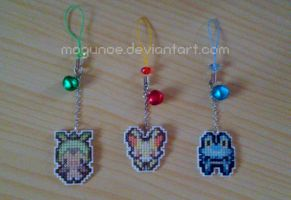 Pokemon ~ 6th Generation Starters mobile straps by mogunoe