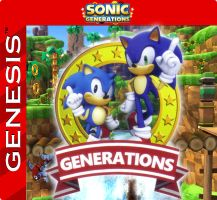 Sonic Generations cart label by razor-ua