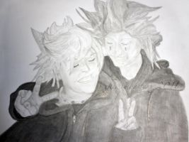 One Ninety. AkuRoku Drawing by xKiwiMonsterx