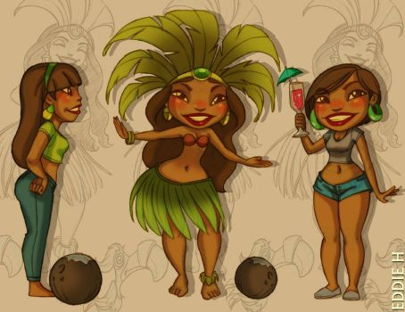 Island Cuties by EddieHolly