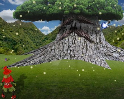Visiting the Great Deku Tree by GuerreroUMS