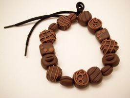 Coffee Shop Chocolate beads by KimsButterflyGarden