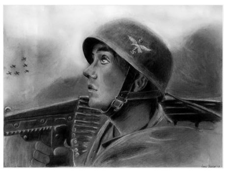 German Soldier by KarinClaessonArt