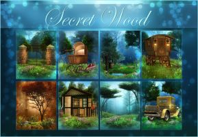 Secret Wood backgrounds by moonchild-ljilja