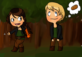 Katniss and Peeta Fanart by Mogoliz