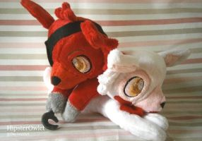 Handmade Foxy and Mangle Plushies by HipsterOwlet