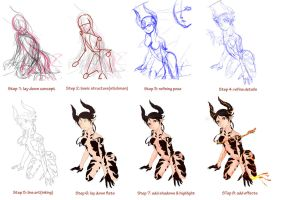turning your stick figures into art by Amano-M