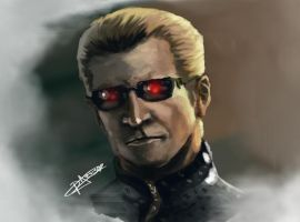Wesker Speed Paint by UmbrellaSpecter
