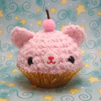 Very Cherry pink cupcake by amigurumikingdom
