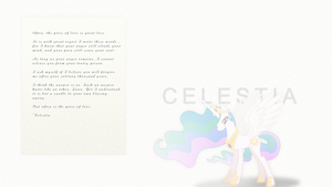 Celestia's Letter by Elalition