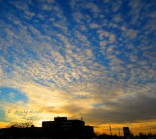 Tiny Clouds in the Sunset by Michies-Photographyy