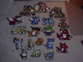 Digimon Perlers' by Neeko96
