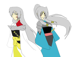 Sesshomaru and Yori by blackcat983