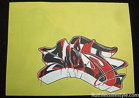 paintmarker on canvas -  worst by JeremyWorst