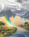 Myth Of The Rainbow Serpent by aerroscape