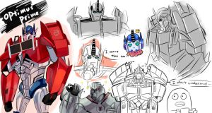 optimus doodle by windy-lie
