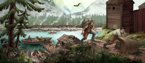 Parks Canada Mural by Biffno