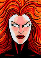 Sketchcard Dark  Phoenix by RichBernatovech