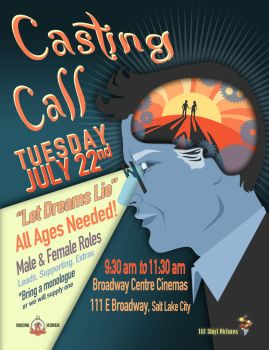 Let Dreams Lie Casting Call Poster by Avalensch