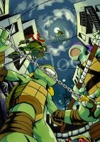 [Tmnt]New Year card the 4th by huer13