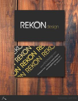 REKON business card by kocho