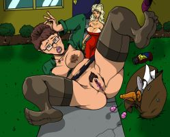 peggy hill falling over nancy watching W backg by CommissionMan