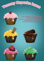 Yummy Cupcake icons by Hardgamerpt