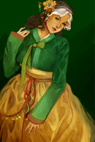 Hanbok Rogue - by hanazakarii by LeeMinKyo