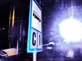 Bus sign and a Supernova by il-Paciato