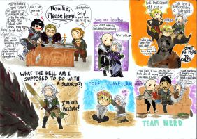 Dragon Age Sketchdump by WhatItMeansToBeHuman