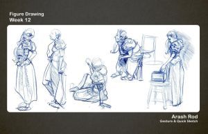 Gesture Drawings - Week 12 by Arashocky