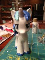 Custom Shining Armor: front view by IronBatMaiden91