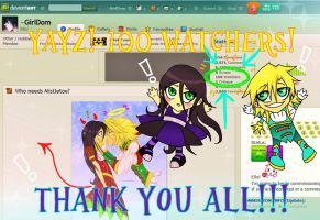 100 Watchers! by Kittyotic