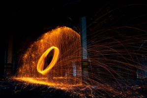 Wire wool spinning 4 by AngiWallace